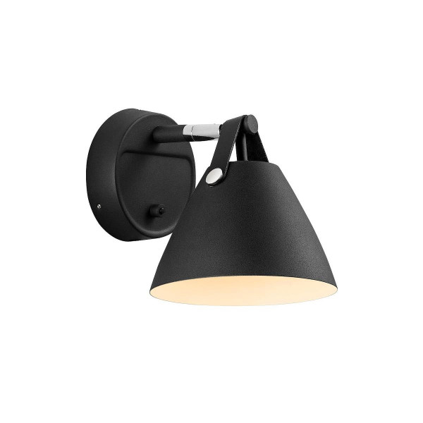 Design For The People by Nordlux strap 15 wandlamp zwart