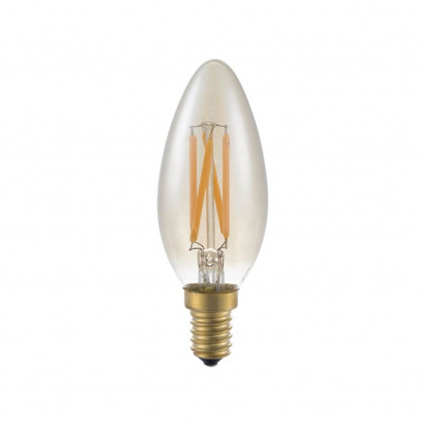 SPL Fila Candle LED lamp E14 - 4W - 250lm - goud - extra warm wit