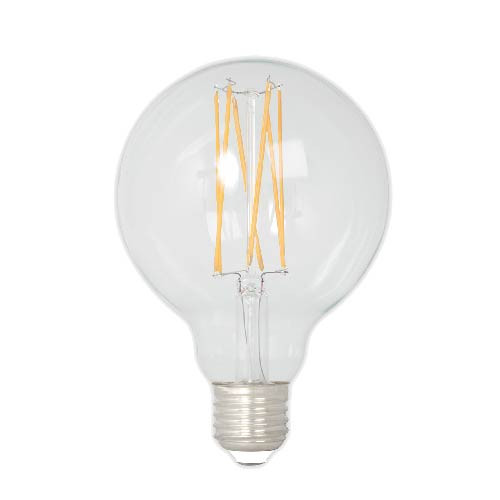Snoerboer globe LED filament Ø95mm - E27 - 4W - 350lm - extra warm wit